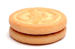 Biscuit Isolated. Closeup of a biscuit isolated Stock Images