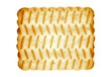 Biscuit isolated on a white. Background royalty free stock images