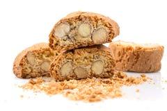 Biscuit italien de cantuccini avec l'amande image libre de droits
