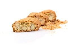 Biscuit italien de cantuccini avec l'amande photographie stock