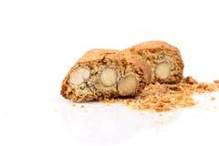 Biscuit italien de cantuccini avec l'amande photos stock