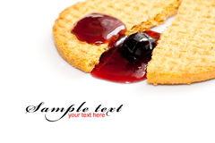 Biscuit with jam Stock Images