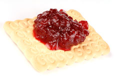 Biscuit with jam Royalty Free Stock Images