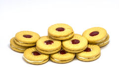 Biscuit with jam Royalty Free Stock Photo
