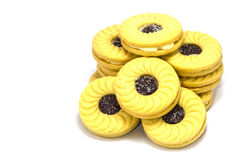 Biscuit with jam Royalty Free Stock Image