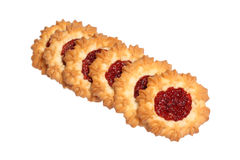 Biscuit with jelly Royalty Free Stock Image