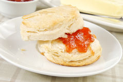 Biscuit with jelly Stock Photo