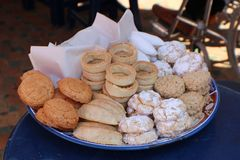 Biscuit, Kasbah of Oudayas,  Morocca Africa. Biscuit. The Kasbah of the Udayas is a kasbah in Rabat, Morocco, located at the mouth of the Bou Regreg river Royalty Free Stock Photography