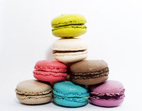 Biscuit macaron. Small, delicious sweets, different colors Royalty Free Stock Image