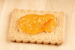Biscuit with marmalade Royalty Free Stock Images