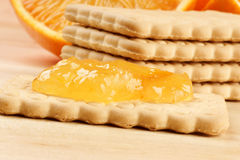 Biscuit with marmalade Royalty Free Stock Photo