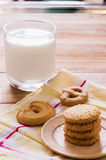 Biscuit and milk Stock Images