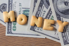 Biscuit of money Stock Images