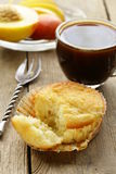 Biscuit muffin with a cup of coffee Stock Photo