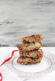 Biscuit with nuts Stock Photos