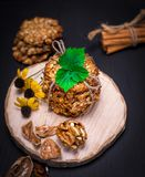 Biscuit oatmeal flakes Royalty Free Stock Photos