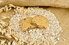Biscuit from oats and berries Royalty Free Stock Photography