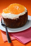 Biscuit orange cake Royalty Free Stock Image