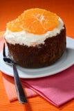 Biscuit orange cake Royalty Free Stock Image