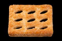 Biscuit perforé carré photo stock