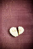Biscuit with print love Stock Photography