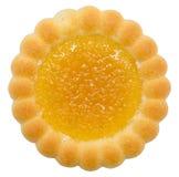 Biscuit rempli par orange photographie stock