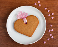 Biscuit with ribbon Royalty Free Stock Image