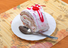Biscuit roll with cream Royalty Free Stock Image