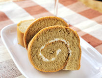 Biscuit roll with cream Royalty Free Stock Photo