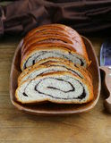 Biscuit roll with poppy seeds Stock Photo