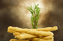 Biscuit with rosemary Royalty Free Stock Photos