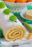 Biscuit roulade with jam Royalty Free Stock Photos