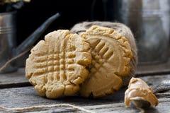 Biscuit sablé avec le beurre d'arachide photo stock
