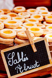Biscuit of sable pastry Royalty Free Stock Photo