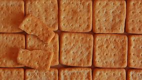 Biscuit salt cookies table background. Day light stock footage
