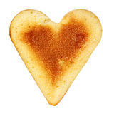 Biscuit in a shape of a heart Stock Photos