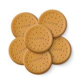 Biscuit simple Chip Cookies illustration libre de droits
