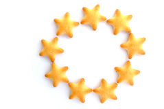 Biscuit. Single funny five-pointed star biscuit royalty free stock image