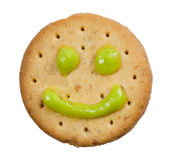 Biscuit with smiley face Royalty Free Stock Photography
