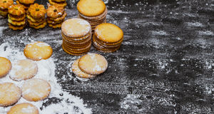 Biscuit for snack. Royalty Free Stock Photography