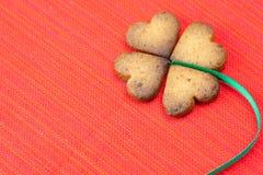 Biscuit sous forme de trèfle irlandais Photo libre de droits