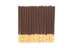 biscuit stick with chocolate flavored Stock Photography