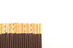 Biscuit stick with chocolate flavored Royalty Free Stock Photo