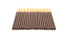 Biscuit stick with chocolate flavored Royalty Free Stock Image