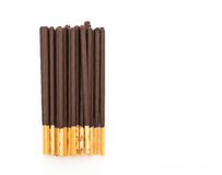 Biscuit stick with chocolate flavored Royalty Free Stock Photography