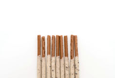 Biscuit stick with cookie and cream flavored Royalty Free Stock Photography