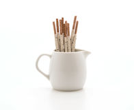 biscuit stick with cookie and cream flavored Stock Photos