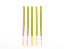 Biscuit stick with green tea flavored Stock Images