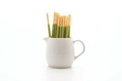 biscuit stick with green tea flavored Stock Photography