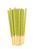 biscuit stick with green tea flavored Royalty Free Stock Photo